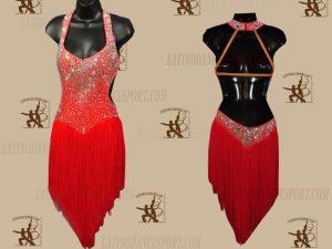 LATINODANCESPORT.COM-Ballroom LATIN RHYTHM Dance Dress-LDS-64