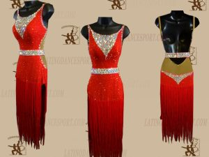 LATINODANCESPORT.COM-Ballroom LATIN RHYTHM Dance Dress-LDS-67