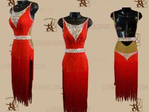 LATINODANCESPORT.COM-Ballroom LATIN RHYTHM Dance Dress-LDS-67