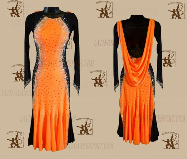 LATINODANCESPORT.COM-Ballroom LATIN RHYTHM Dance Dress-LDS-69