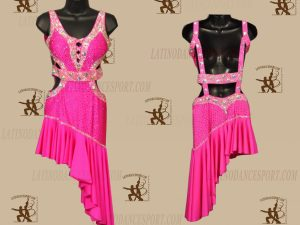 LATINODANCESPORT.COM-Ballroom LATIN RHYTHM Dance Dress-LDS-70