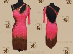 LATINODANCESPORT.COM-Ballroom LATIN RHYTHM Dance Dress-LDS-74