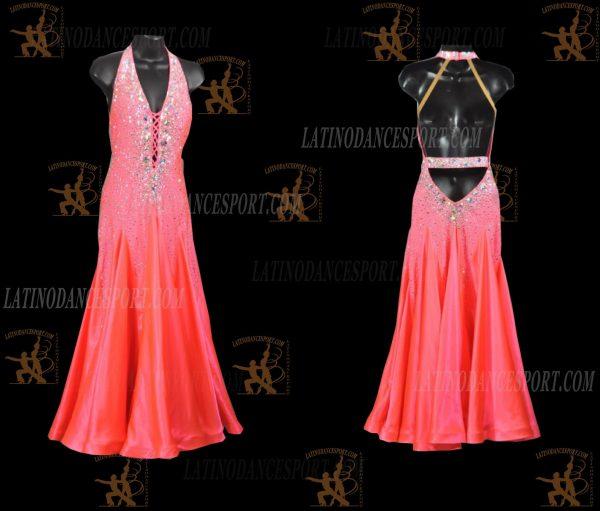 LATINODANCESPORT.COM-Ballroom STANDARD SMOOTH Dance Dress-SDS-28