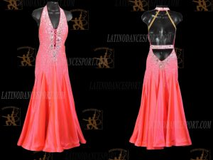 LATINODANCESPORT.COM-Ballroom STANDARD SMOOTH Dance Dress-SDS-28