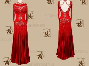 LATINODANCESPORT.COM-Ballroom STANDARD SMOOTH Dance Dress-SDS-29