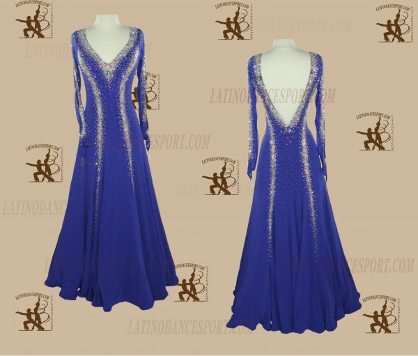 LATINODANCESPORT.COM-Ballroom STANDARD SMOOTH Dance Dress-SDS-30