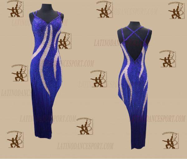 LATINODANCESPORT.COM-Ballroom Latin Rhythm Dance Dress-LDS-76