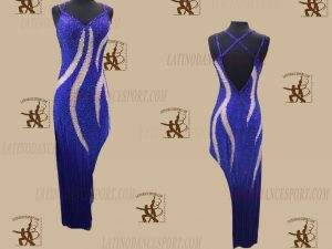 LATINODANCESPORT.COM-Ballroom Latin Rhythm Dance Dress-LDS-76
