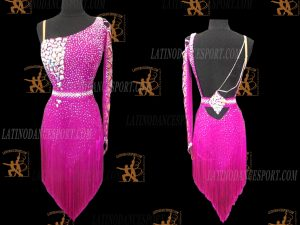 LATINODANCESPORT.COM-Ballroom Latin Rhythm Dance Dress-LDS-77