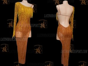 LATINODANCESPORT.COM-Ballroom Latin Rhythm Dance Dress-LDS-81