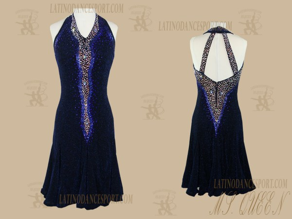 LATINODANCESPORT.COM-Ballroom Latin Rhythm Dance Dress-LDS-88