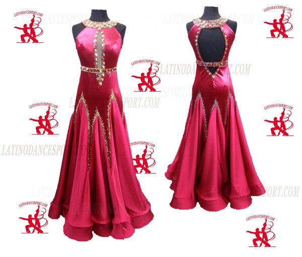 Latinodancesport.com-Ballroom Standard Smooth Dance Dress-SDS-40