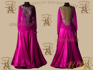 Latinodancesport.com-Ballroom Standard Smooth Dance Dress-SDS-25