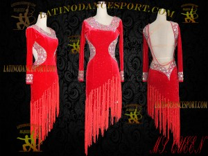 Latinodancesport Ballroom Dance LDS-52 Latin Dress Tailored