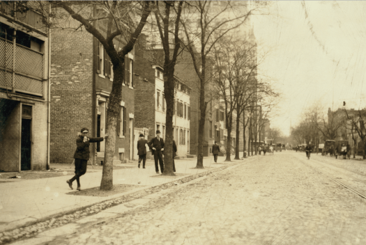 Lewis Hine, View of Red Light District on C. Street, N.W., near 13th,