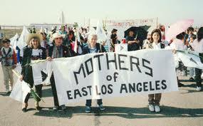 Josephine del Pozo, Henrietta Castillo, Lucy Delgado. and Amanda del Pozo.  Photo by Mothers of East Los Angeles.