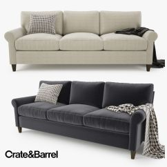 Crate And Barrel Lounge Sofa Review Kenworth Studio Sleeper Furniture Simple But Elegant Tufted Design With