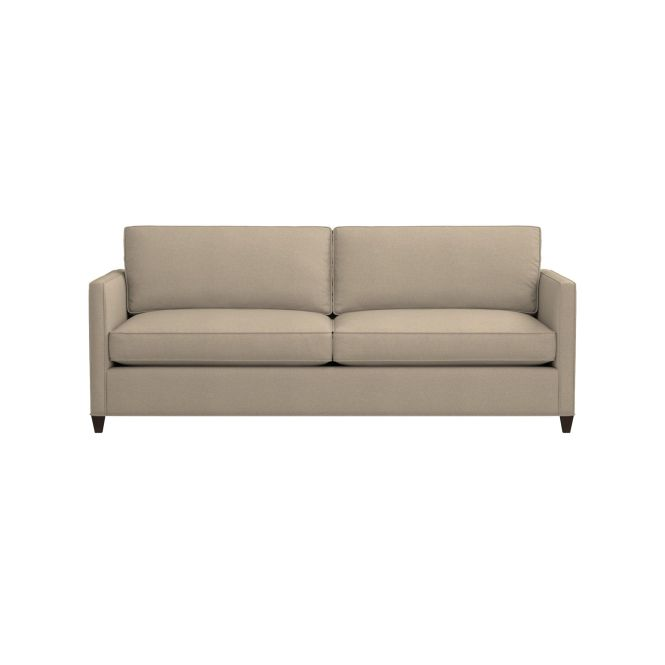 Crate And Barrel Couch Davis Sectional Twin Sleeper