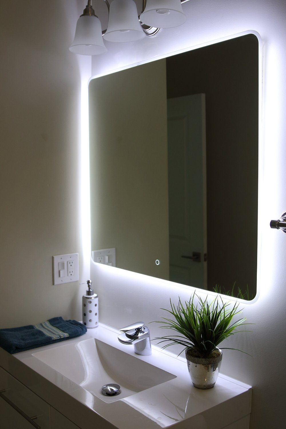 Mirrors Lighted Wall Mirror For Elegant Vanity Design