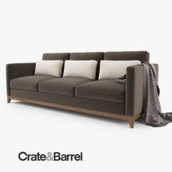 Crate And Barrel Sofa Cushion Replacement Machine Washable Slipcover Furniture Simple But Elegant Tufted Design With