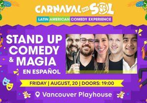 Vive una noche de Stand Up Comedy y magia en español en el Carnaval Del Sol