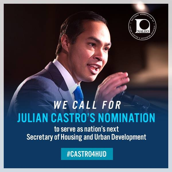 Latino Victory Project Applauds Nomination of San Antonio Mayor Julián Castro to Secretary of HUD: Calls for Quick Confirmation of Mayor Castro