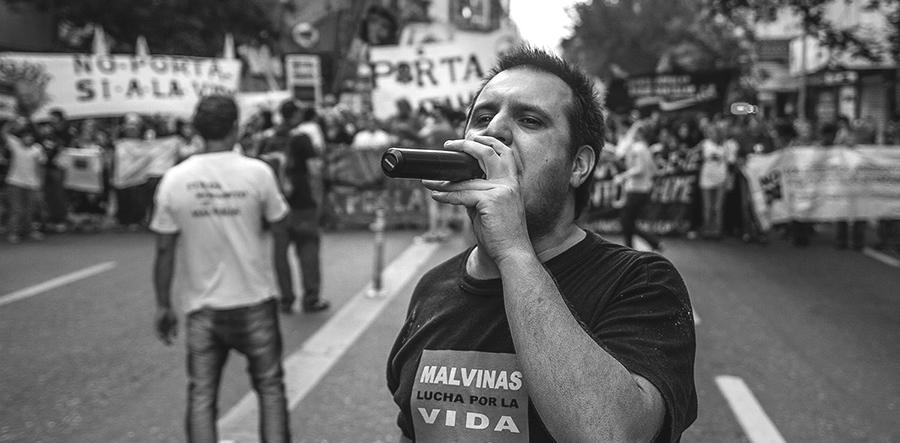 Manifiestación mundial contra Monsanto. 2014. Foto: Colectivo Manifiesto.