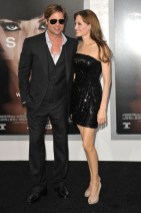 "Brad Pitt & Angelina Jolie arrive at the L.A. premiere of ""Salt"""