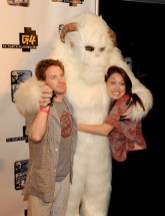 "Seth Green -- ""Family Guy,"" ""Robot Chicken"" -- poses with a Wampa & a friend"