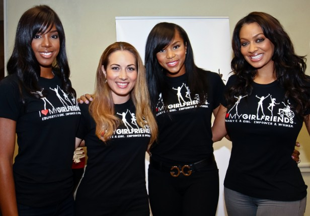 Lala Vazquez with Kelly Rowland and Brandy Garcia
