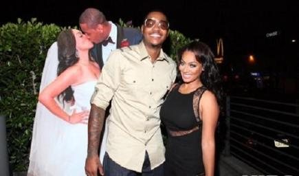 Lala Vazquez and Carmelo Anthony