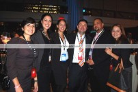 (Left to right) Lucía Cordón, Kathy Liz, Karina Cabrera, Juan Guillen, Publisher Latin Trends; Rosemary Carrillo, Publisher Business Latino.