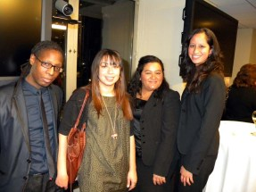 (Left to right) Drew Brown, Christine Milano, Lina Osorio y Amy Osorio from 'Salsa Caterers'
