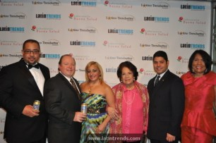 Juan Guillen of LatinTRENDS (far left) with staff of associate sponsor Inca Kola