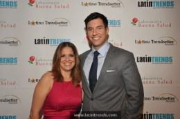 Co-hosts Maria Santana of CNN en Español and Tom Llamas of NBC4 (2011 Trendsetter)