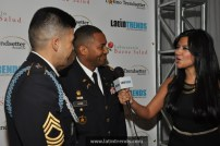 LTC Juan Howie & MSG Alvarez of the US Army ROTC (sponsor) being interview by LatinTRENDS