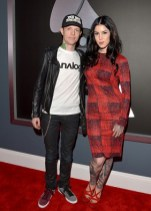 Kat Von D and fiance deadmau5 arrive to the 2013 Grammys Red Carpet [Photo: Getty Images]