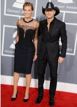 Tim McGraw and Faith Hill arrive to the 2013 Grammys Red Carpet [Photo: Getty Images]