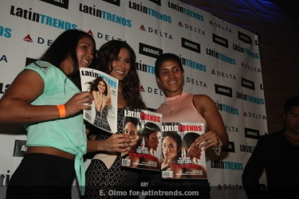 The Serrano Sisters, cover personalities for LatinTRENDS June 2013 with Roselyn Sánchez