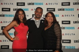 LatinTRENDS founder & CEO Juan Guillen with wife (right) and daughter