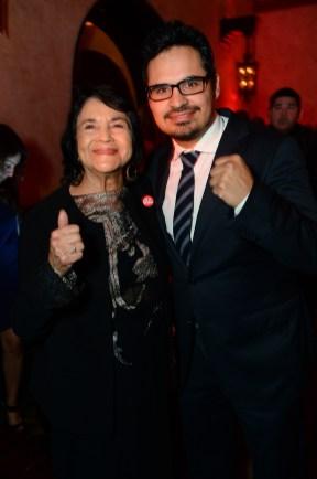 Dolores Huerta and Michael Peña
