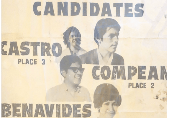 1970s flyer/poster advertising Barrio Candidates
