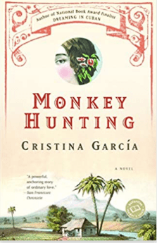 Book cover of Monkey Hunting showing tropical scene