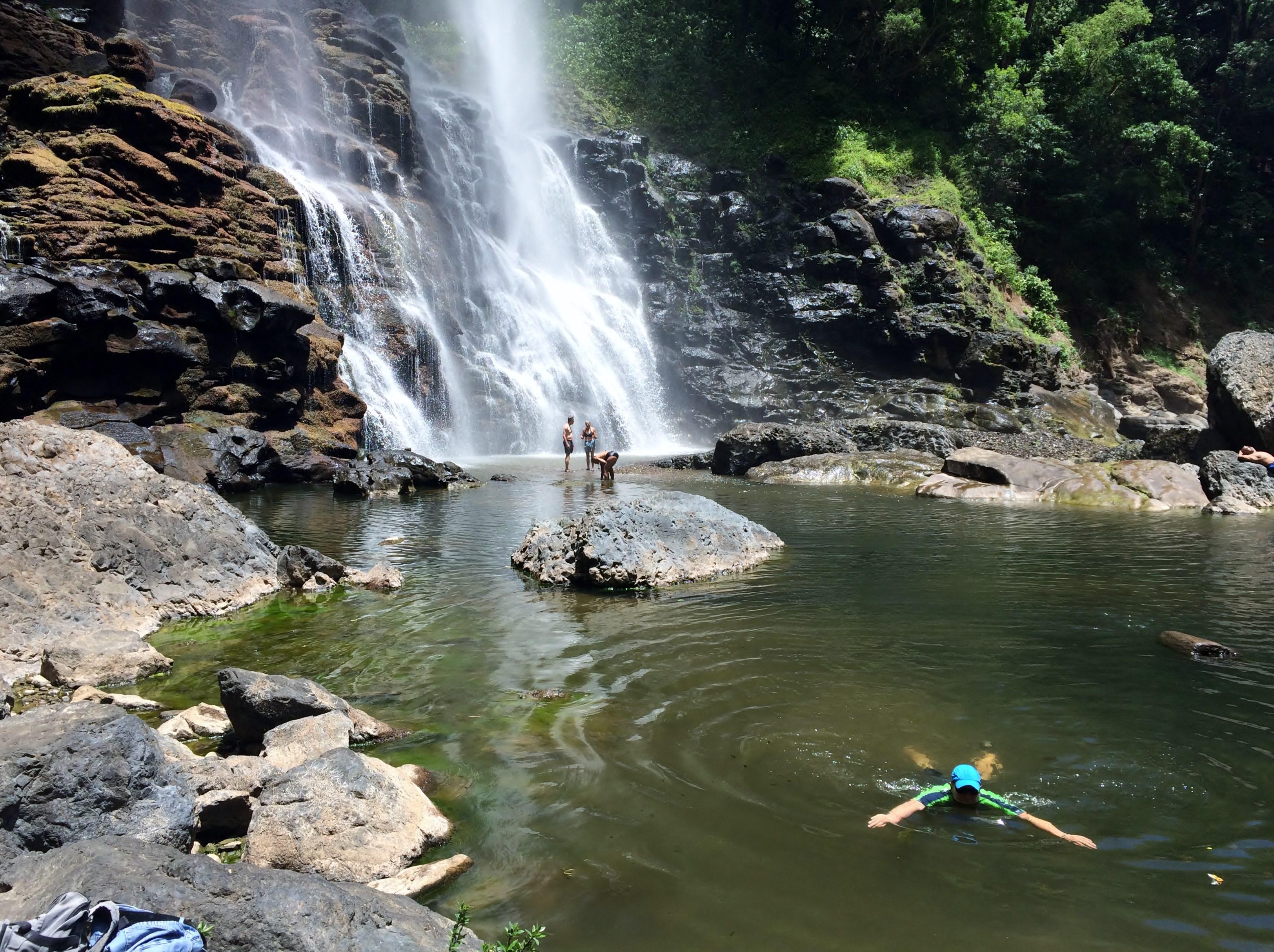 KiKi-Falls-swimming The Waterfalls Just Keep Getting Better . . . Hiking in Panama Panama The Great Outdoors