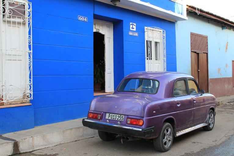 Purple-Car-Trinidad-Cuba A Cuban Road Trip, Part 2 - Trinidad Cuba Trinidad