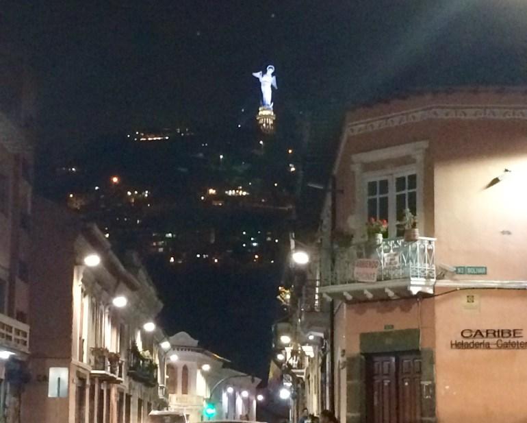 Winged-Virgen-Night-Quito FOUR DAYS IN QUITO, ECUADOR: Part I Ecuador Quito