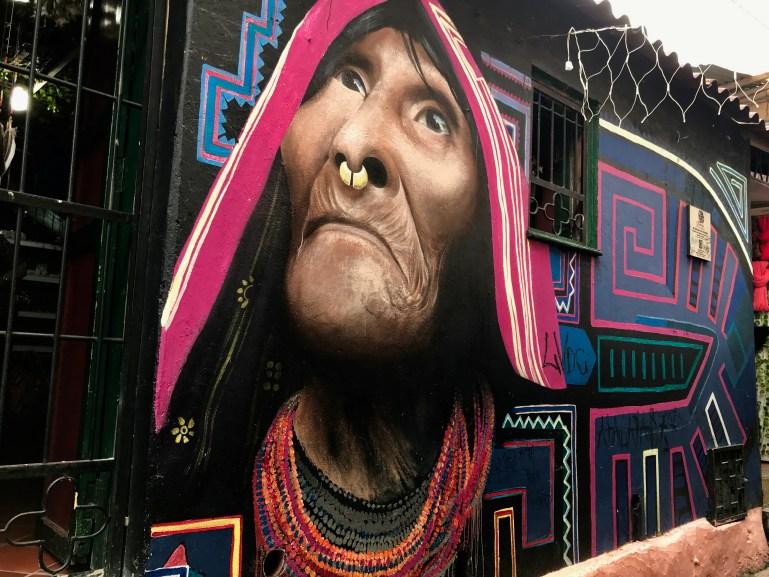Guna mural Bogota