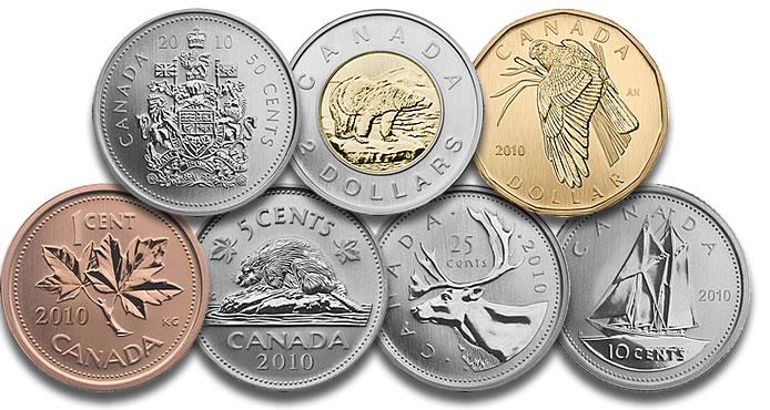 Dolar Canadense: Coins (Moedas)