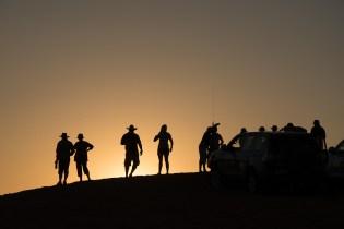 Sunset spectators, Big Red
