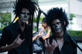 grim reaper and friend.